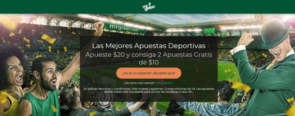 Mr Green Perú es una increíble casa de apuestas deportivas Perú ven a disfrutar de su bono y comienza a obtener ganancias