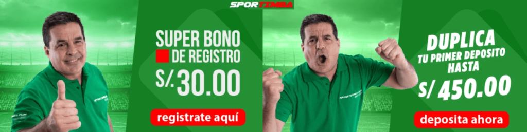 Sportimba Perú es una increíble casa de apuestas deportivas Perú ven a disfrutar de su bono y comienza a obtener ganancias